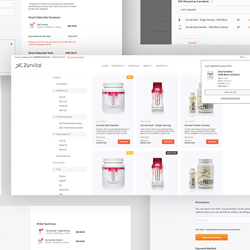 Customized Shopping Cart and Checkout